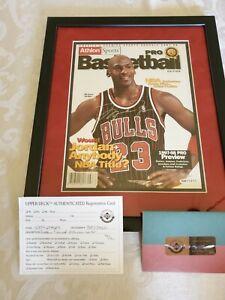 1988 Michael Jordan 12x14 Autograph Framed Upper Deck Photo UDA Authenticated