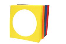 100pk Premium(100g) ASSORTED COLOR CD DVD Paper Sleeve Envelope W/ Window Flap