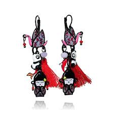 Lol Bijoux - Boucles d'Oreilles au Pays des Pandas - Cygne & Pompon Rouge