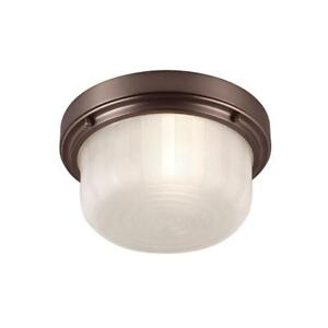 "Murray Feiss Elliot 11.25"" 1-Light Chocolate Flushmount Ceiling Fixture"