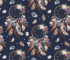 Romantic dream catcher dark 100% Cotton Printed Fabric, width 160 cm Fat quarter