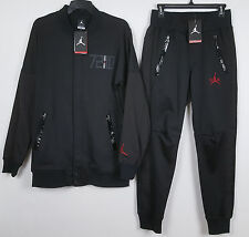NIKE AIR JORDAN XI RETRO 11 72-10 SUIT JACKET +PANTS BLACK RED RARE (SIZE SMALL)