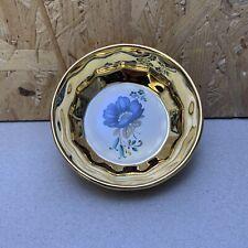 Vintage Prinknash Pottery Gold Lustre Floral Small Dish / Bowl - 8.5cm