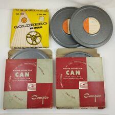 "5 Lot Vintage Film Reel 8mm Family Amateur 6"" 5"" Four Compco & One Goldberg"