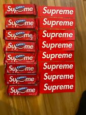 Supreme x Oreo Cookies 8 PACK LOT, 24 Cookies! IN HAND & Free 8 Supreme Stickers