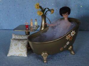 """AllforDoll OOAK DIORAMA Furniture BATHROOM for 12"""" Doll - Kish BJD Barbie Effner"""