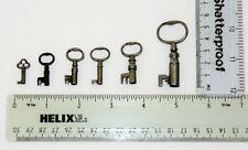 Antique  Keys  x 6,  Various Sizes