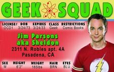 the Big Bang Theory Dr Sheldon Cooper Jim Parsons fake Id card Drivers License