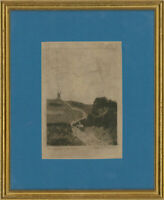 H. Crickmore - Framed 1885 Etching, The Windmill by Old Crome