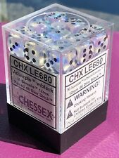 """CHESSEX CHX LE680 AQUERPLE Borealis ONE (1d6) """"pipsqueak"""" 12mm Pipped Dice OOP"""