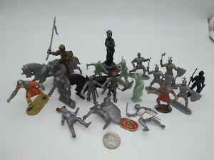 Vintage MARX Robin Hood & Medieval Knights w/ LIDO Mounted Horses Elastolin ETC