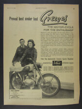 1961 Greeves Sports Roadster Motorcycle photo vintage print Ad