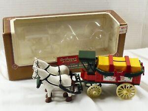 Horse & Wagon Dr. Pepper Soda Advertisement Die-Cast Metal Coin Bank & Key ERTL