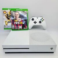 Microsoft Xbox One S 500GB White Console W/ Controller, Cables, Games Bundle