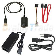 """USB 2.0 to IDE SATA ATA ATAPI 2.5"""" 3.5"""" HD HDD Converter Cable Adapter w/Power"""