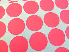 48 Bright Pink Paper Mini Stickers, 30mm Round,  Labels, Plain, Blank, BLC535