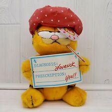 "Vintage Dakin Garfield the Cat 9"" Plush Love Sick #14-4270"