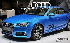 Audi A4 Quattro Factory Style Door Vinyl Stickers Decals, Racing Emblem Logos x2