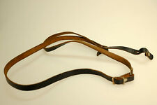 Strong real leather camera strap from 1970 (retro) 115cm long approx - vintage