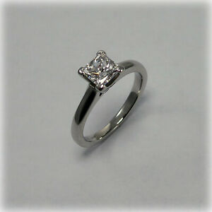 Platinum Half-Carat Single Stone Diamond Ring