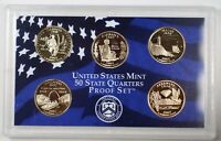 2003 United States State Quarters Proof Set 5 Gem Coins W/ Box and COA