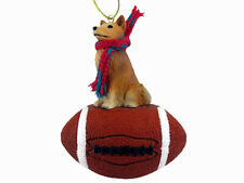 Finnish Spitz Dog Football Sports Figurine Ornament