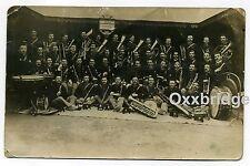 BRASS BAND GIACOMO PUCCINI Italian Marching Militaria 1890 RPPC Italy Big