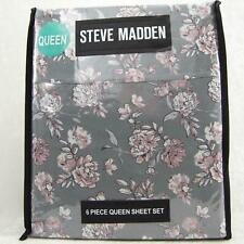 STEVE MADDEN 6-pc Beautiful Floral Design Queen Sheet Set BRAND NEW WITH TAGS!