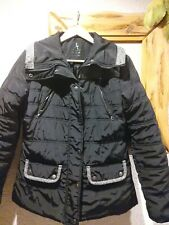 Atmosphere Black Grey Padded Coat Jacket Size 10