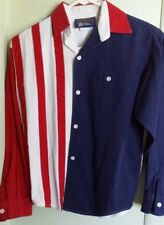 """Kids L """"Proud to be an American, Panhandle Slim"""" AMERICAN FLAG Button Shirt USA"""