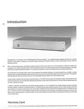 Carver M-200t Amplifier Owners Manual