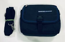Gameboy Advance Carrying Case Bag W/ Travel Strap Nintendo GBA SP Black and Blue