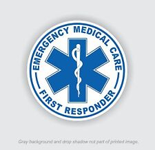 First Responder EMT Star of Life Stickers EMS Rescue Nurse Decal