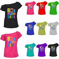 80s Party Girl Shirt Ladies 1980's Retro Women Dance Party wear Casual Top