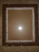 Antique Vintage Ornate Gesso Carved Frame Victorian Wooden 27x23 20x16