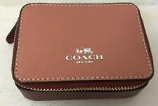 Burgundy & Dusty Pink Leather COACH Travel Mini Jewelry Case   C28