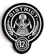 "District 12 HUNGER GAMES  3.5"" Embroidered Uniform Patch-FREE S&H (HGPA-001)"