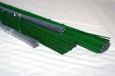 Florist Stub Wire, 3 Wire Selection 2x Green Laquered 1x Galvanised Rose Qty 400