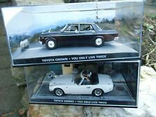 007 JAMES BOND Toyota 2000 GT + Crown - You only live twice - 2 BOXED CAR MODELS