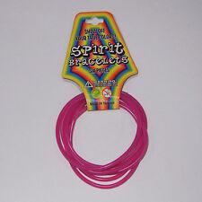 New Wave 6 Cyber Punk 80s 90s Rave Gummy Gummi Fuchsia Hot Pink Rubber Bracelets