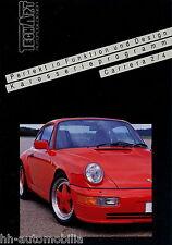 TechArt Porsche Carrera 2/4 Karosserieprogramm Prospekt (D) ca. 1991 brochure