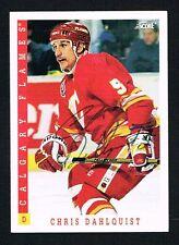 Chris Dahlquist #314 signed autograph auto 1993-94 Score Hockey Trading Card