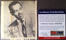 BILLY ECKSTINE Jazz Music Vintage Signed Photo Auto PSA/DNA Certified Autograph