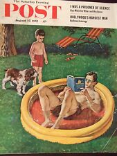 1955 Saturday Evening Post Wading Pool Amos Sewell Cover Only