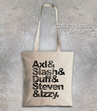 Borsa shopper Guns N' Roses nomi come i Beatles Axl Slash Duff Steven Izzy
