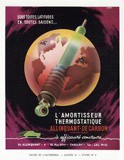 """""""AMORTISSEUR ALLINQUANT-DE CARBON"""" Annonce originale entoilée fin 40 ARDOR"""