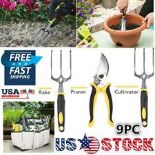 All-in-one Garden Tools Set Gardening Tools + Garden Gloves + Garden Tote 9Pcs