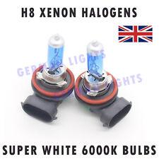 *2x H8 SUPER XENON WHITE HEADLIGHT BULBS 6000K AUDI BMW MERCEDES FORD GOLF FOG