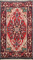 Geometric Heriz Traditional Oriental Area Rug Hand-Knotted Home Decor Carpet 2x4