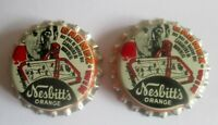 1972 NESBITT'S Orange Soft Drink -- NHL HOCKEY BOTTLE CAP --JEAN BELIVEAU NEW !!